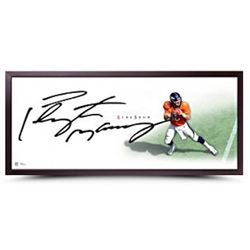 """Peyton Manning Signed """"The Show"""" 46x20 Custom Framed Lithograph (UDA COA)"""