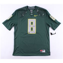"Marcus Mariota Signed LE Oregon Ducks Nike Authentic On-Field Jersey Inscribed ""Heisman '14"" (Mariot"