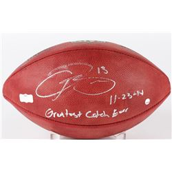 "Odell Beckham Jr. Signed ""The Duke"" NFL Official Game Ball Inscribed ""Greatest Catch Ever 11.23.14"""