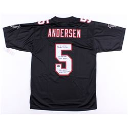 "Morten Anderson Signed Falcons Jersey Inscribed ""NFL Record 2544 Points"", ""382 Games""  ""565 Field Go"