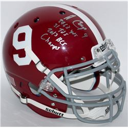"Amari Cooper Signed Alabama Full-Size Authentic Pro-Line Helmet Inscribed ""3463 Yds"", ""31 Tds""  ""201"