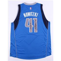 "Dirk Nowitzki Signed LE Mavericks Adidas Swingman Jersey Inscribed ""Swish"" (Panini COA)"