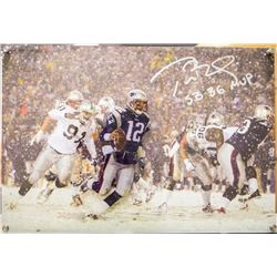 "Tom Brady Signed Limited Edition Patriots 16x20 Diebond Plexiglass Photo Display Inscribed ""SB 36 MV"