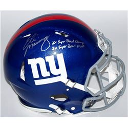 "Eli Manning Signed Limited Edition Giants Full-Size Authentic Pro-Line Speed Helmet Inscribed ""2x Su"