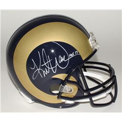 "Kurt Warner Signed Rams Full-Size Helmet Inscribed ""HOF 17"" (JSA COA)"