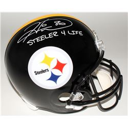 "Hines Ward Signed Steelers Full-Size Helmet Inscribed ""Steeler 4 Life"" (JSA COA)"