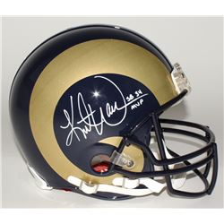 "Kurt Warner Signed Rams Full-Size Helmet Inscribed ""SB 34 MVP"" (JSA COA)"