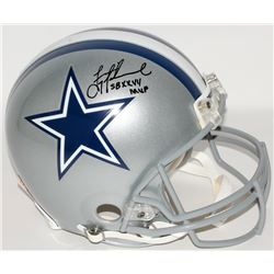 "Troy Aikman Signed Cowboys Full-Size Authentic Helmet Inscribed ""SB XXVII MVP"" (Aikman Hologram)"