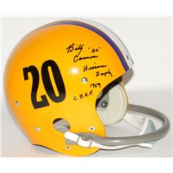 "Billy Cannon Signed LSU Tigers Full-Size Throwback Suspension Helmet Inscribed ""Heisman Trophy 1959"""