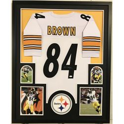 "Antonio Brown Signed Steelers 34"" x 42"" Custom Framed Jersey Display (JSA COA)"