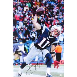 "Julian Edelman Signed Patriots 20"" x 30"" Giclee on Canvas Inscribed ""SB 49 Champs!"" (JSA COA)"