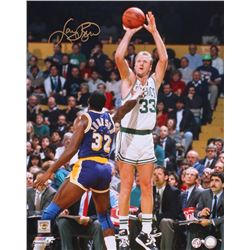 Larry Bird Signed Celtics 16x20 Photo (Bird Hologram)