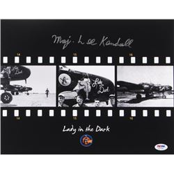 """Lee Kendall Signed """"Lady in the Dark"""" P-61 11x14 Photograph (PSA COA) - Pristine Exclusive"""