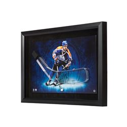 "Paul Coffey Signed Oilers 16"" x 24"" Custom Framed Hockey Stick Blade Display (UDA COA)"