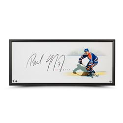 "Paul Coffey Signed Oilers ""The Show"" 20"" x 46"" Custom Framed Photo Display (UDA COA)"