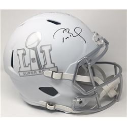"Tom Brady Signed LE ""Super Bowl 51"" Custom Matte White ICE Full-Size Speed Helmet (Steiner COA  TriS"
