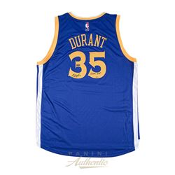 "Kevin Durant Signed Warriors LE Authentic Swingman Jersey Inscribed ""Finals MVP"" (Panini COA)"