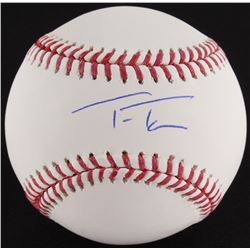 Trea Turner Signed OML Baseball (MLB Hologram)