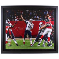 "Tom Brady Signed LE Patriots ""Super Bowl LI"" 39"" x 47"" Custom Framed Photo Display (TriStar  Steiner"