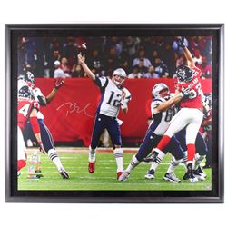 "Tom Brady Signed Patriots 46"" x 56"" Limited Edition Custom Framed Photo Display (Steiner COA  TriSta"