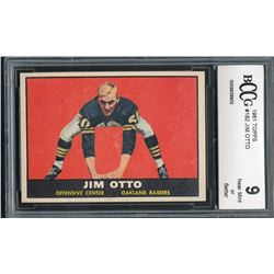 1961 Topps #182 Jim Otto RC (BCCG 9)