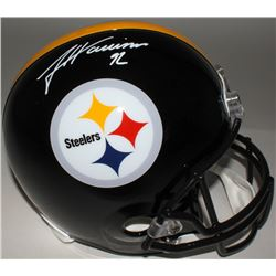 James Harrison Signed Steelers Full-Size Helmet (JSA COA)