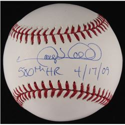 "Gary Sheffield Signed OML Baseball Inscribed ""500th HR 4/17/09"" (Steiner  MLB Hologram)"