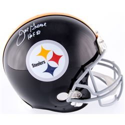 "Joe Greene Signed Steelers Throwback Full-Size Authentic On Field Helmet Inscribed ""HOF 87"" (JSA COA"