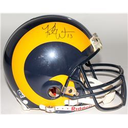 Kurt Warner Signed Rams Full Size Authentic On-Field Helmet (JSA COA)