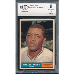 1961 Topps #150 Willie Mays (BCCG 8)