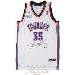 Kevin Durant Signed Thunder Jersey With 2013-14 MVP Patch (Panini COA)