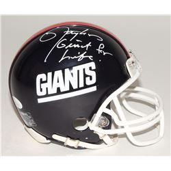 "Lawrence Taylor Signed Giants Mini-Helmet Inscribed ""Giant For Life"" (JSA COA)"