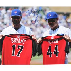 Kris Bryant  Anthony Rizzo Signed Cubs 16x20 Photo (Schwartz COA)