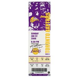 "Kobe Bryant Signed ""81 Point Game"" 9x33 Oversized Ticket on Canvas (Panini COA)"