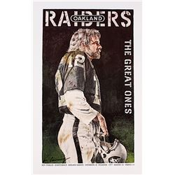 "Ken Stabler Raiders ""The Great Ones"" 15.5"" x 25"" Merv Corning Signed Lithograph (Stabler LOA)"
