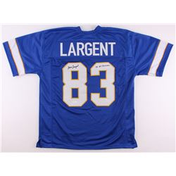 "Steve Largent Signed Tulsa Golden Hurricanes Jersey Inscribed ""'75 All-American"" (JSA COA)"