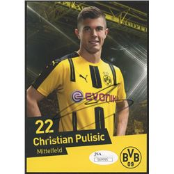 Christian Pulisic Signed Borussia Dortmund 4x6 Photo (JSA COA)