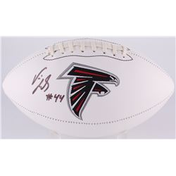 Vic Beasley Signed Falcons Logo Football (Radtke COA)
