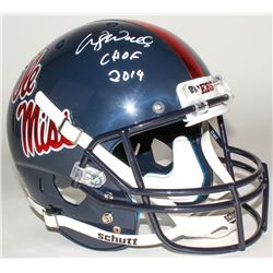 "Wesley Walls Signed Ole Miss Rebels Full-Size Helmet Inscribed ""CHOF 2014"" (Radtke COA)"