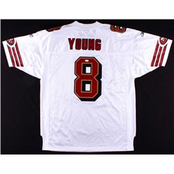 "Steve Young Signed Authentic On-Field 49ers Jersey Inscribed ""HOF 2005""  ""SB XXIX MVP"" (JSA COA)"