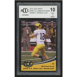 2012 Leaf Draft Army All-American Bowl #AABAL1 Andrew Luck (BCCG 10)