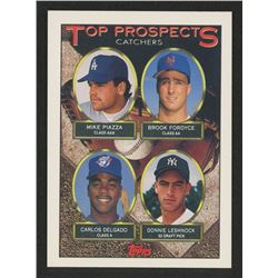 1993 Topps #701 Blank Back Mike Piazza/Brook Fordyce/Carlos Delgado/Donnie Leshnock
