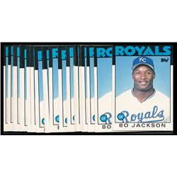 Lot of (25) 1986 Topps Traded #50T Bo Jackson RC