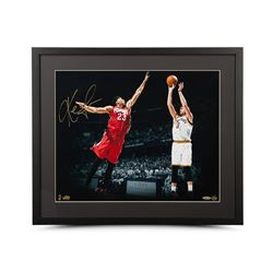 "Kevin Love Signed Cavaliers ""Corner Jumper"" 16x20 Custom Framed Photo (UDA)"