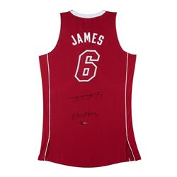 "LeBron James Signed Heat Limited Edition Pride Jersey Inscribed ""Heatles"" (UDA)"