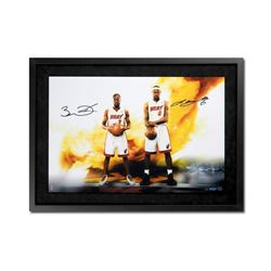 "LeBron James  Dwyane Wade Signed ""Next Level"" 16x24 Custom Framed Limited Edition Photo (UDA)"