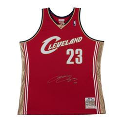 LeBron James Signed '03-'04 Cavaliers Wine Jersey (UDA)