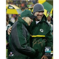 Brett Favre Signed Packers 8x10 Photo With Bart Starr (Radtke COA)