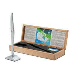 """Wayne Gretzky Signed Limited Edition 2010 Olympic Torch Box with Birks Replica Torch Inscribed """"2010"""