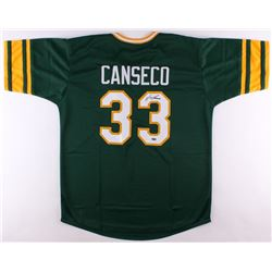 Jose Canseco Signed Athletics Jersey (Leaf COA)